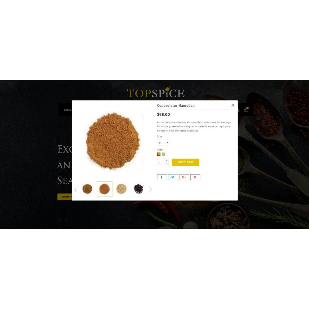 theme - Lebensmittel & Restaurants - Top Spice Store - 7