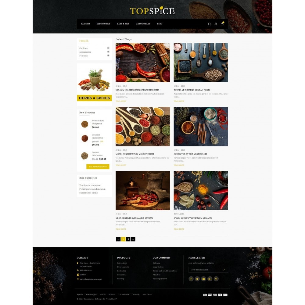 theme - Lebensmittel & Restaurants - Top Spice Store - 9