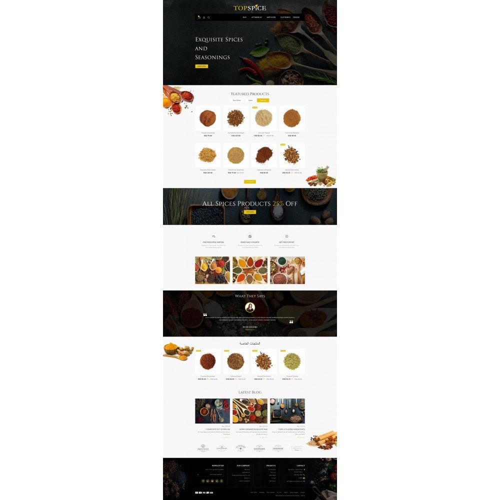 theme - Lebensmittel & Restaurants - Top Spice Store - 10
