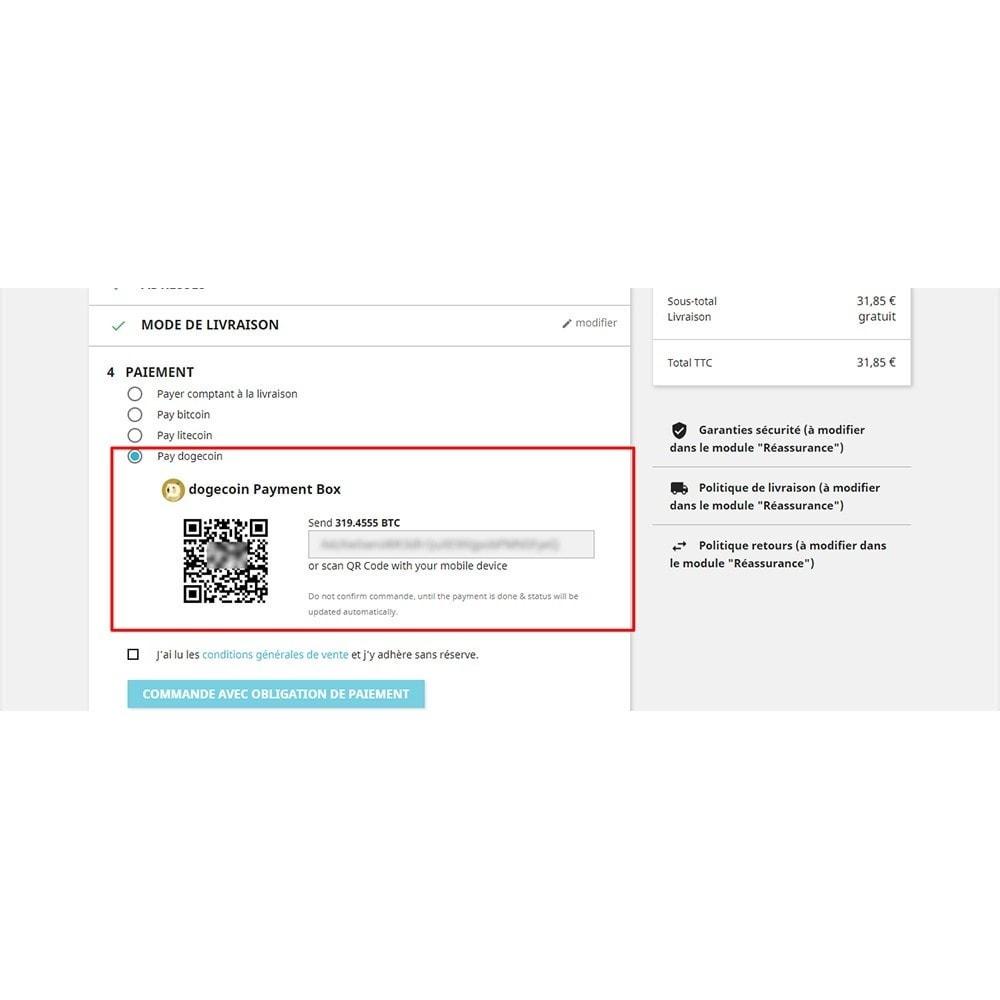 module - Альтернативных способов оплаты - Bitcoin Litecoin Dogcoin Payment - 4