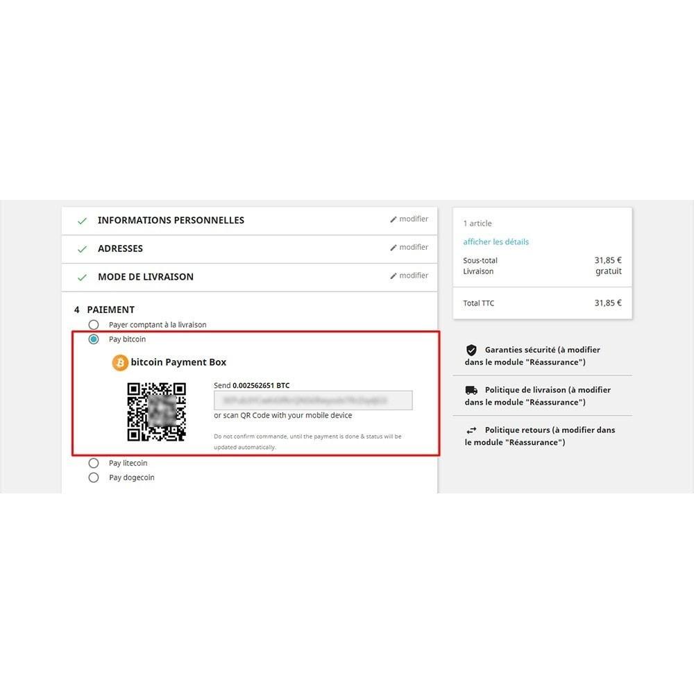 module - Альтернативных способов оплаты - Bitcoin Litecoin Dogcoin Payment - 5