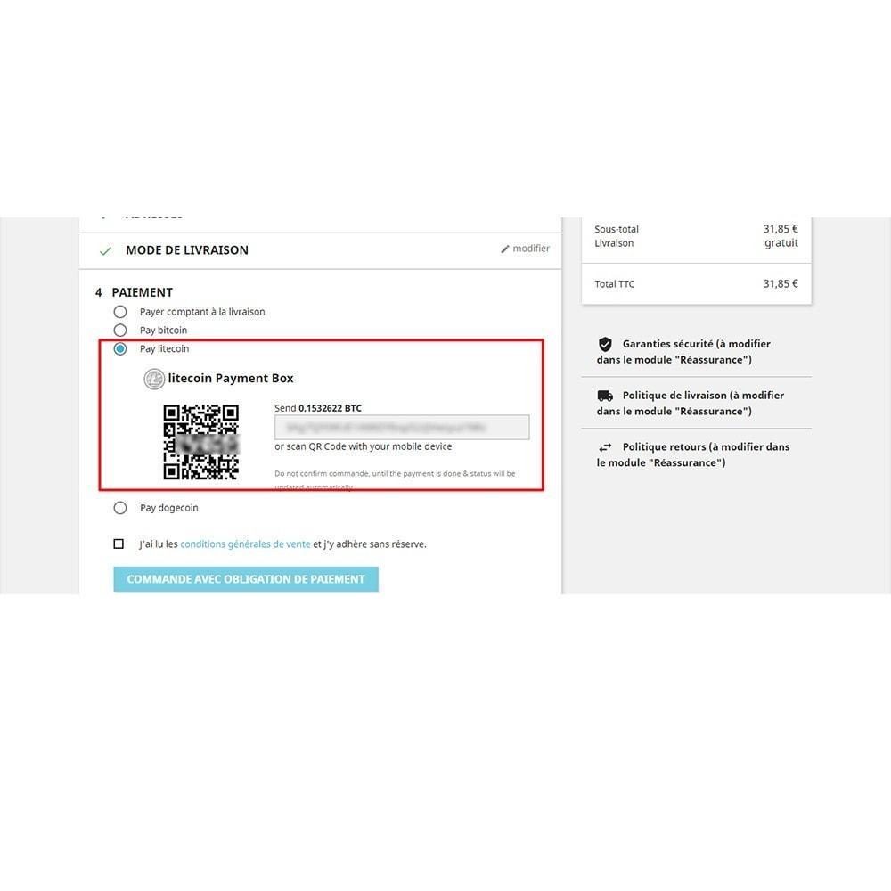 module - Альтернативных способов оплаты - Bitcoin Litecoin Dogcoin Payment - 7