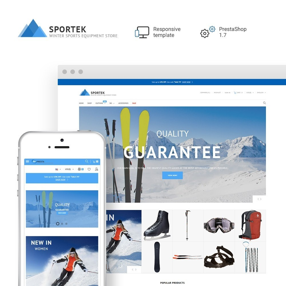theme - Sport, Attività & Viaggi - Sportek - Winter Sports Equipment Store - 1