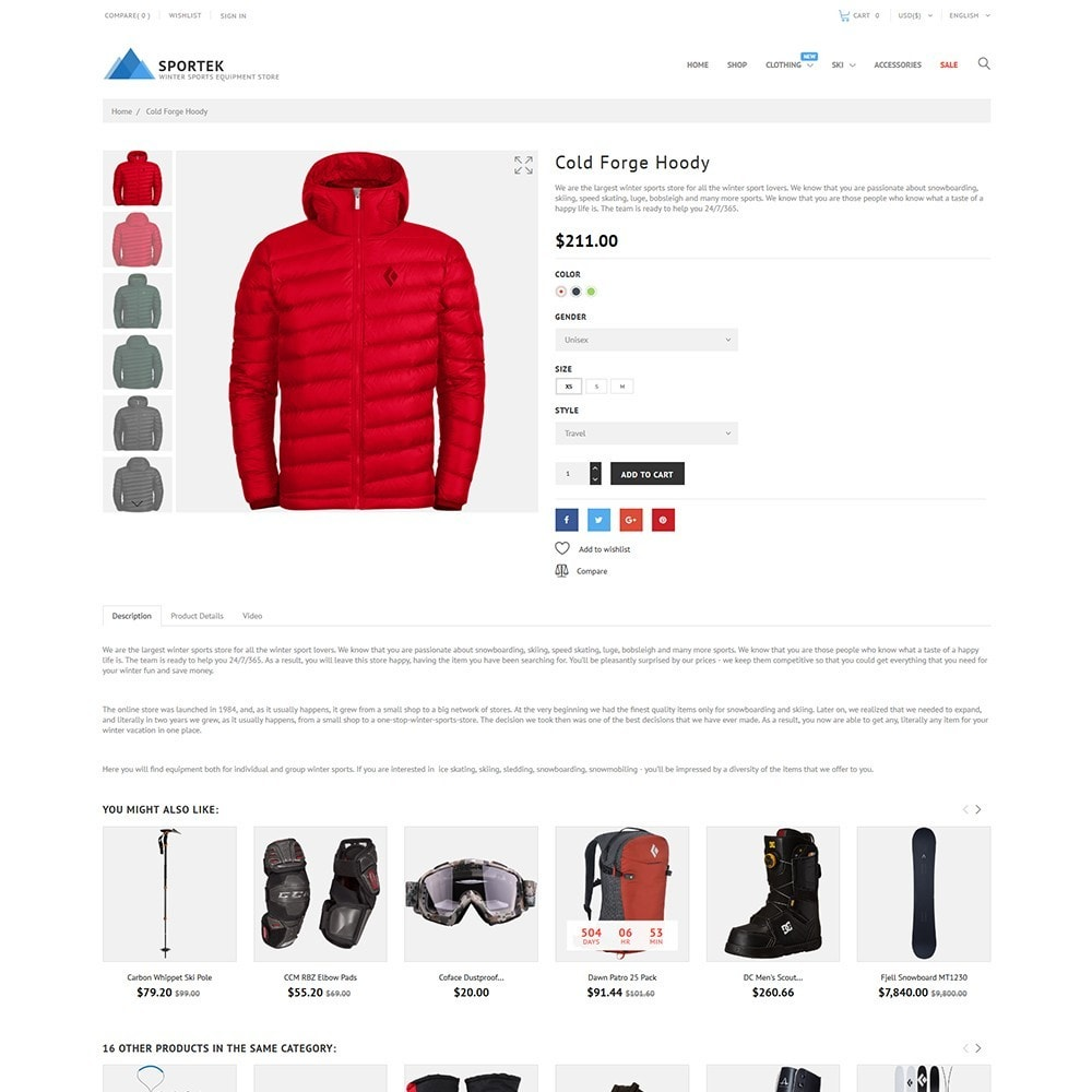 theme - Sport, Attività & Viaggi - Sportek - Winter Sports Equipment Store - 3