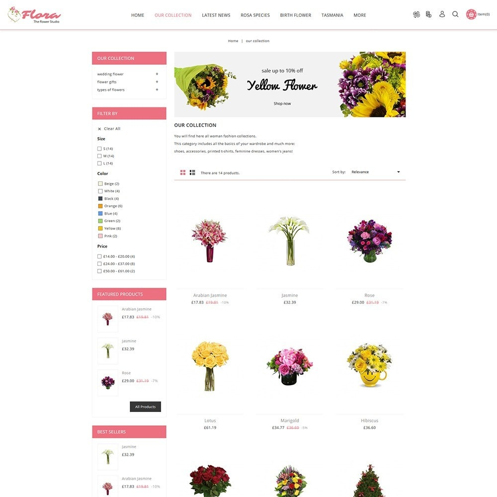 theme - Gifts, Flowers & Celebrations - Flora Flower Shop - 4