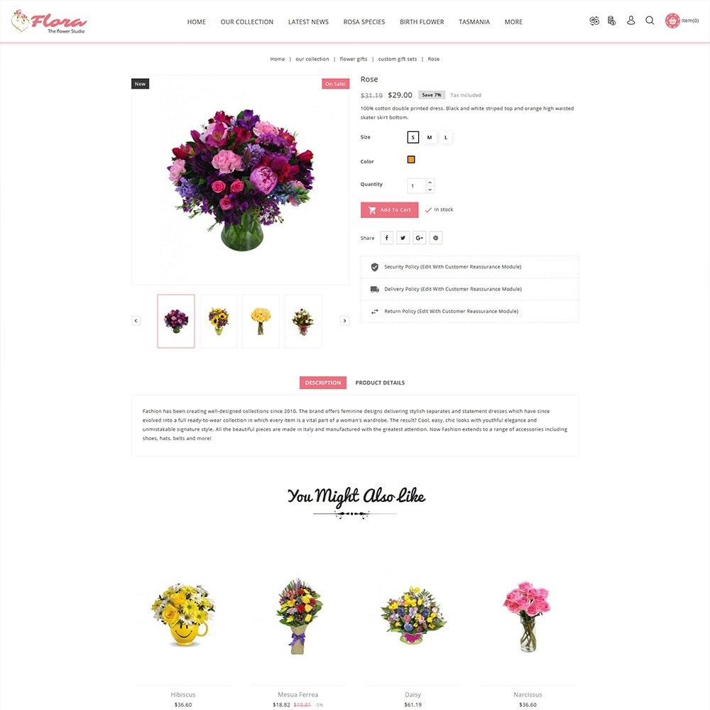 theme - Gifts, Flowers & Celebrations - Flora Flower Shop - 6