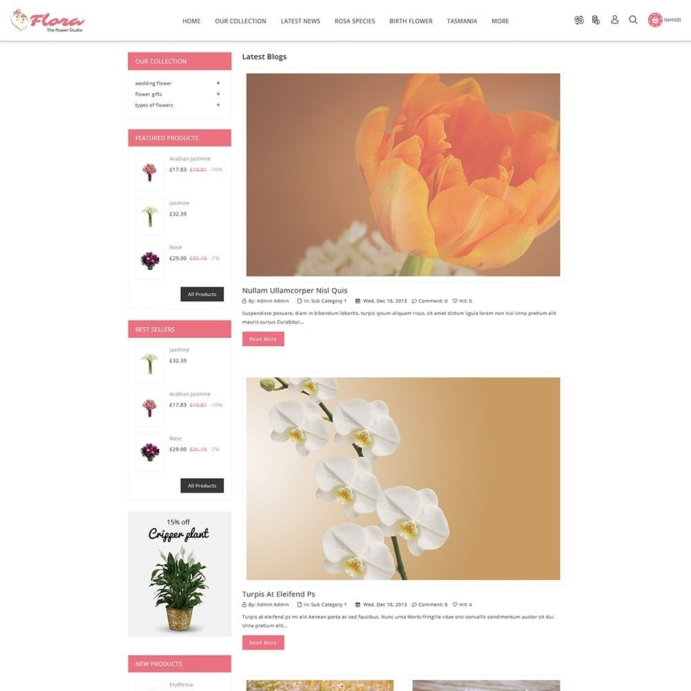 theme - Gifts, Flowers & Celebrations - Flora Flower Shop - 7
