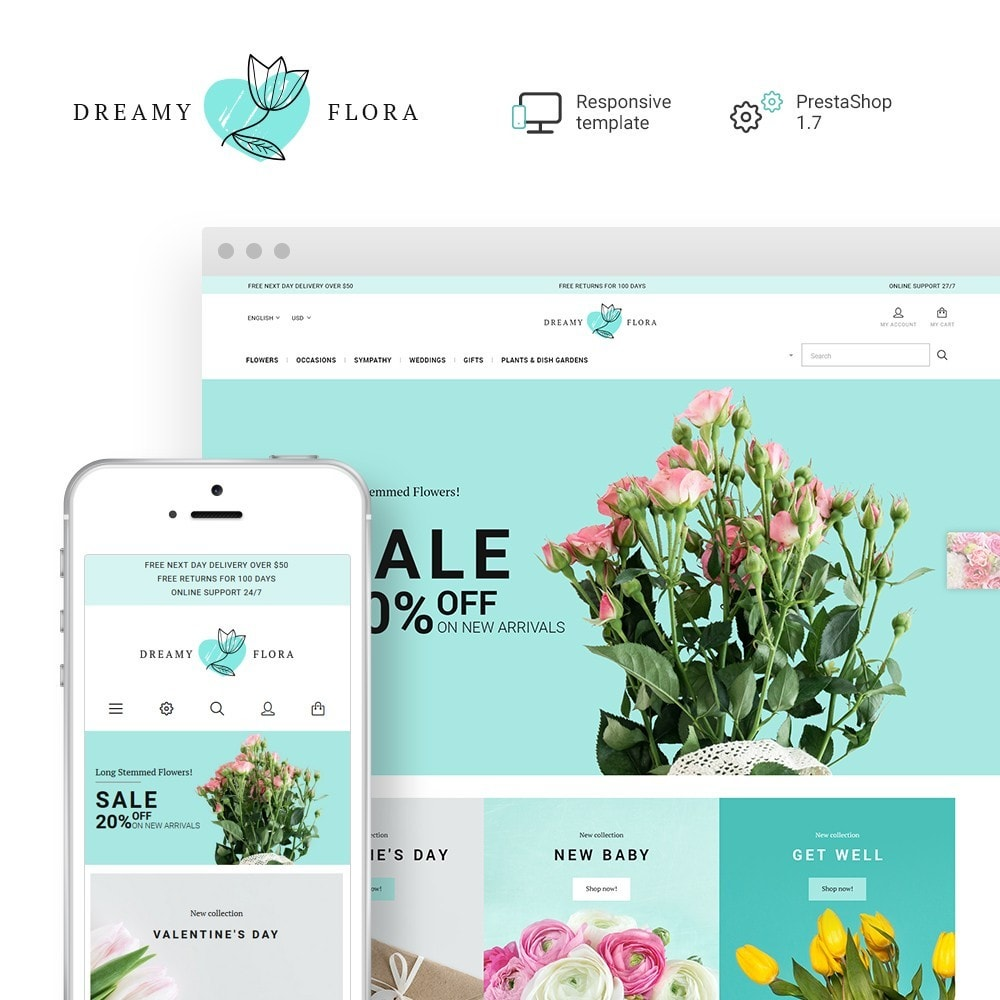 theme - Gifts, Flowers & Celebrations - Flower - Dreamy Flora - 1