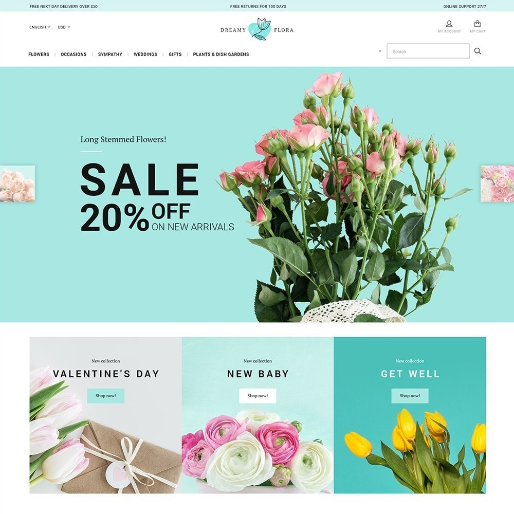 theme - Gifts, Flowers & Celebrations - Flower - Dreamy Flora - 2