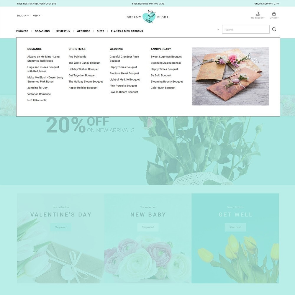 theme - Gifts, Flowers & Celebrations - Flower - Dreamy Flora - 4