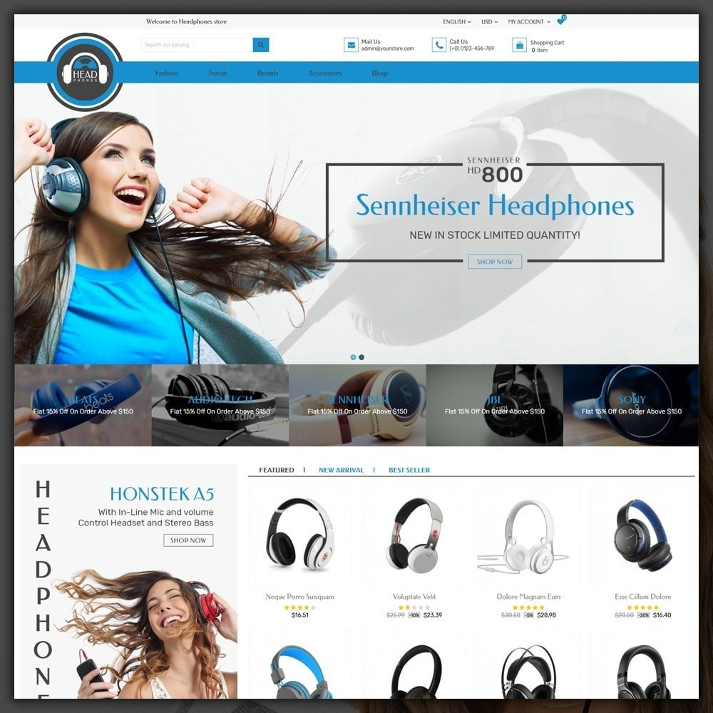 theme - Electronics & Computers - Headphone Shop - 2
