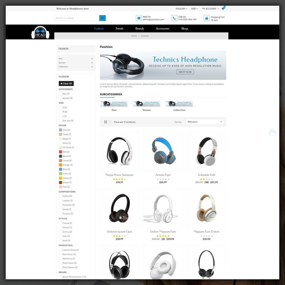 theme - Electronics & Computers - Headphone Shop - 4