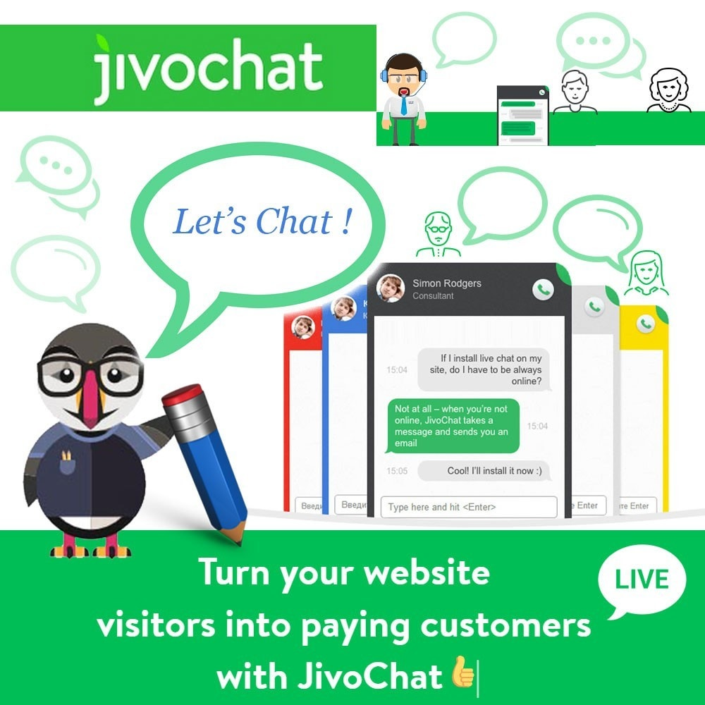 module - Asistencia & Chat online - Jivochat - Live chat with your customers - 1
