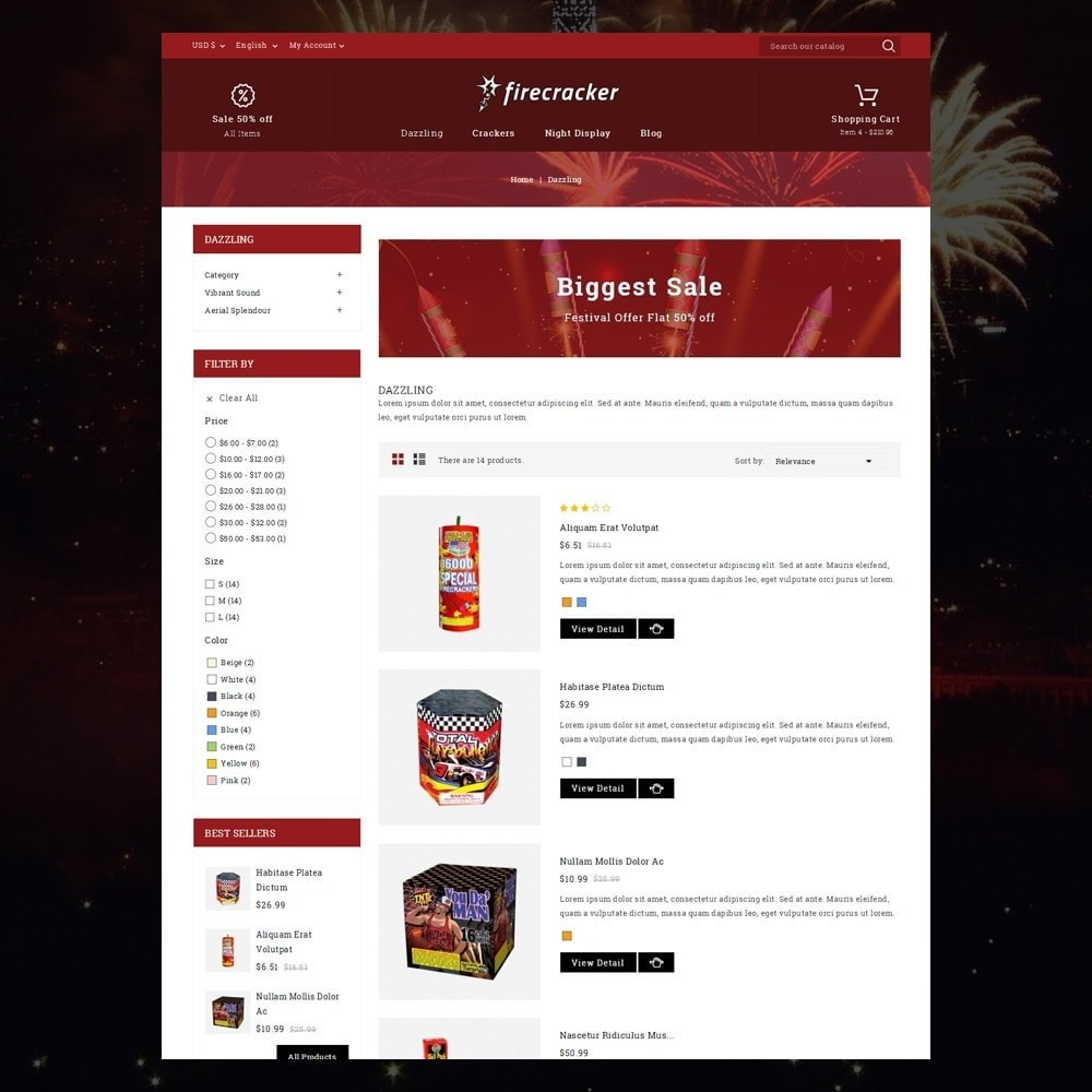 theme - Desporto, Actividades & Viagens - Firecracker Store - 4