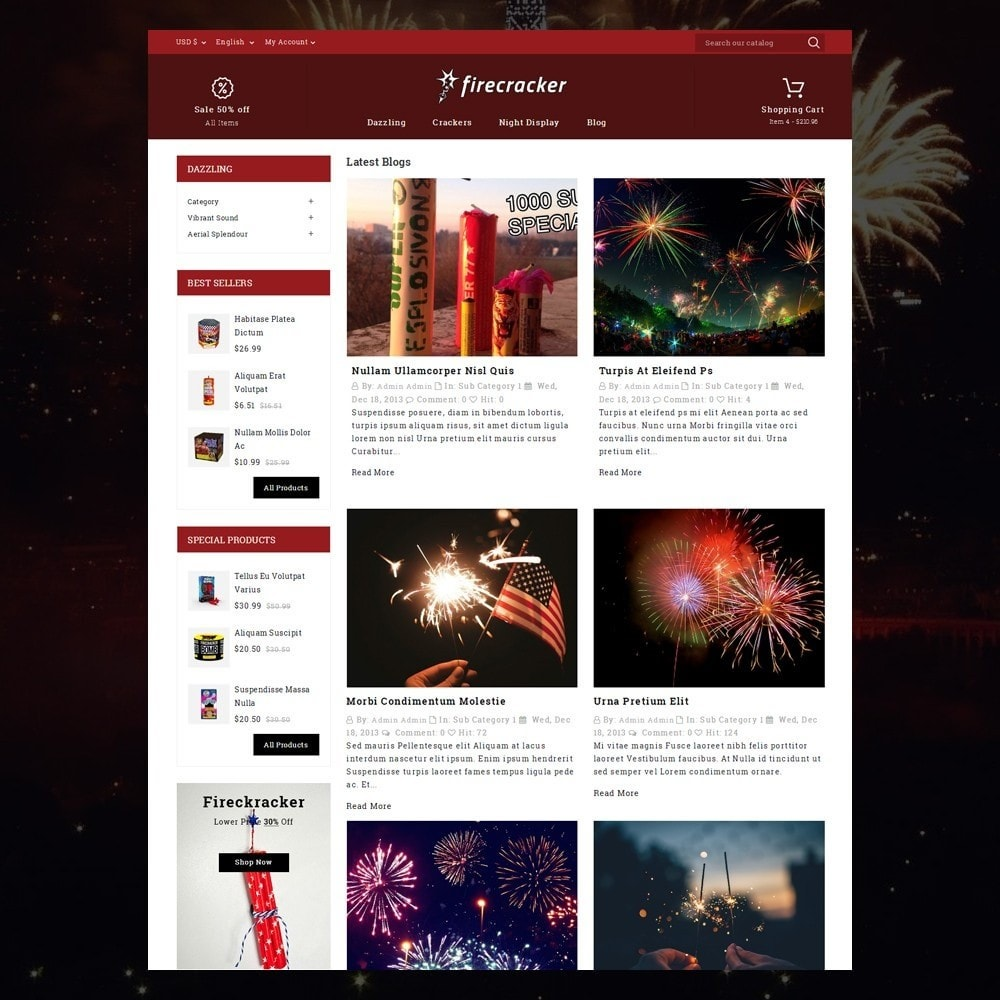 theme - Спорт и Путешествия - Firecracker Store - 5