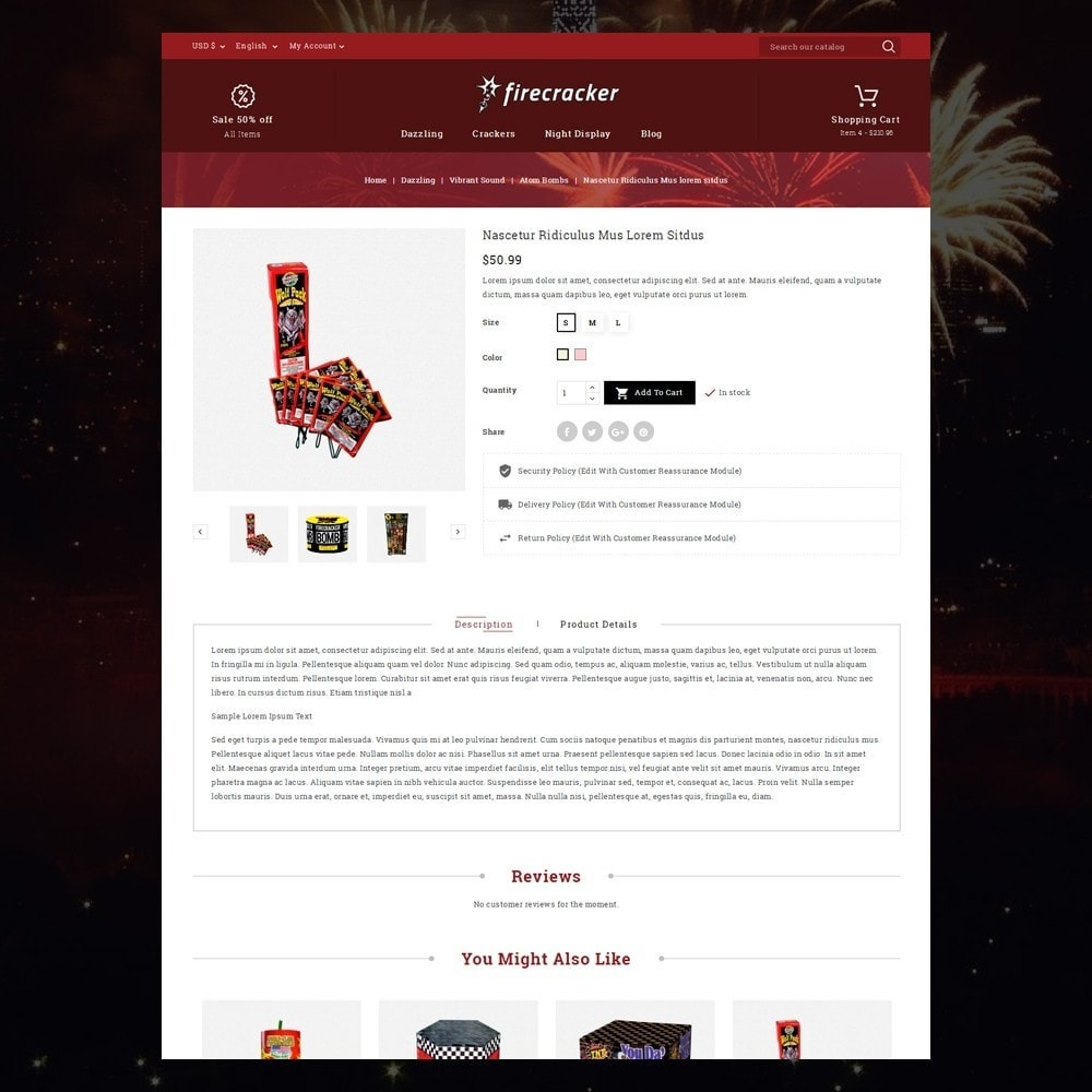 theme - Спорт и Путешествия - Firecracker Store - 6