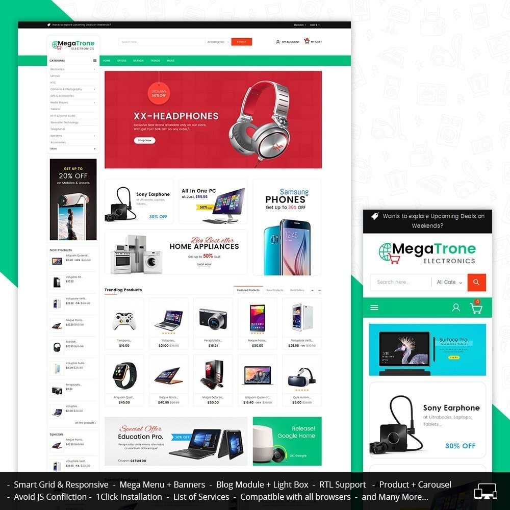 theme - Elettronica & High Tech - Mega Shop Electronics - 1