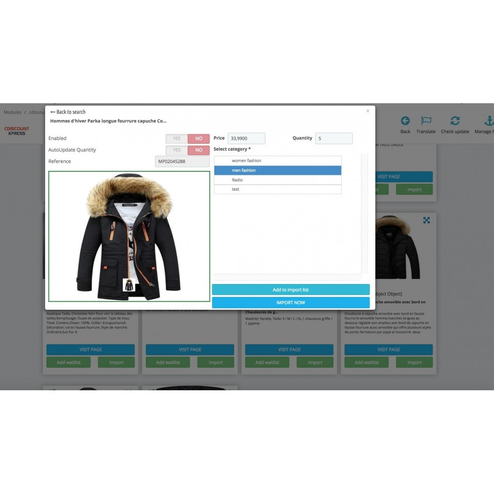 module - Marketplaces - Cdiscount Search & Import - 2