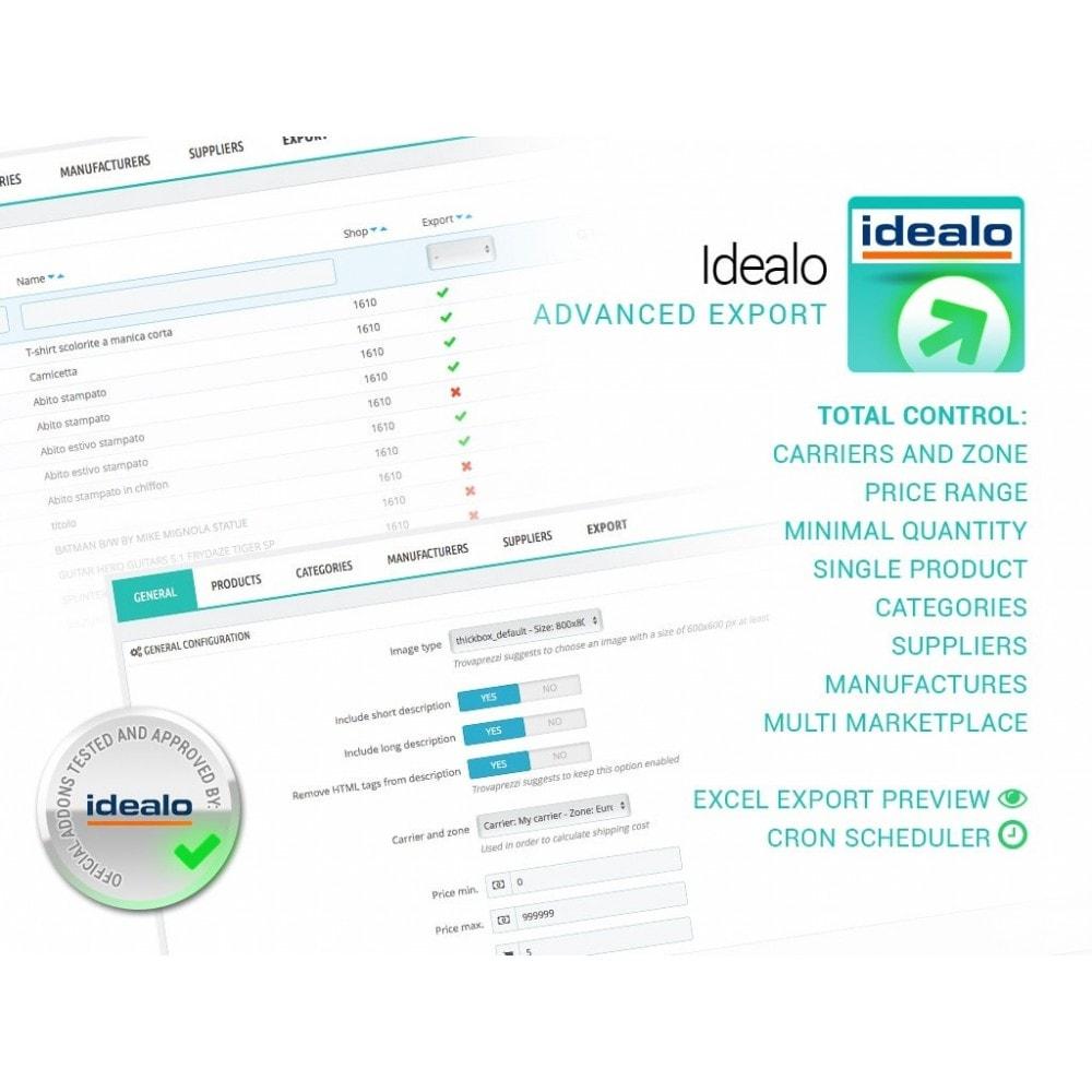 module - Comparateurs de prix - Idealo - Export + Advanced Filters - 1