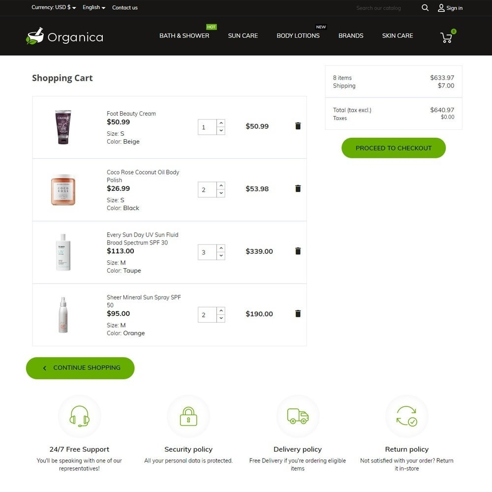 theme - Zdrowie & Uroda - Organica Cosmetics - 7