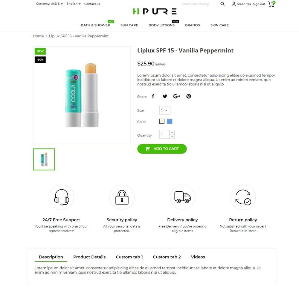 theme - Saúde & Beleza - HPURE Cosmetics - 5