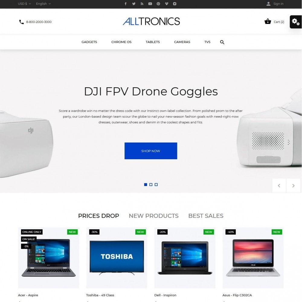theme - Elettronica & High Tech - Alltronics - High-tech Shop - 2