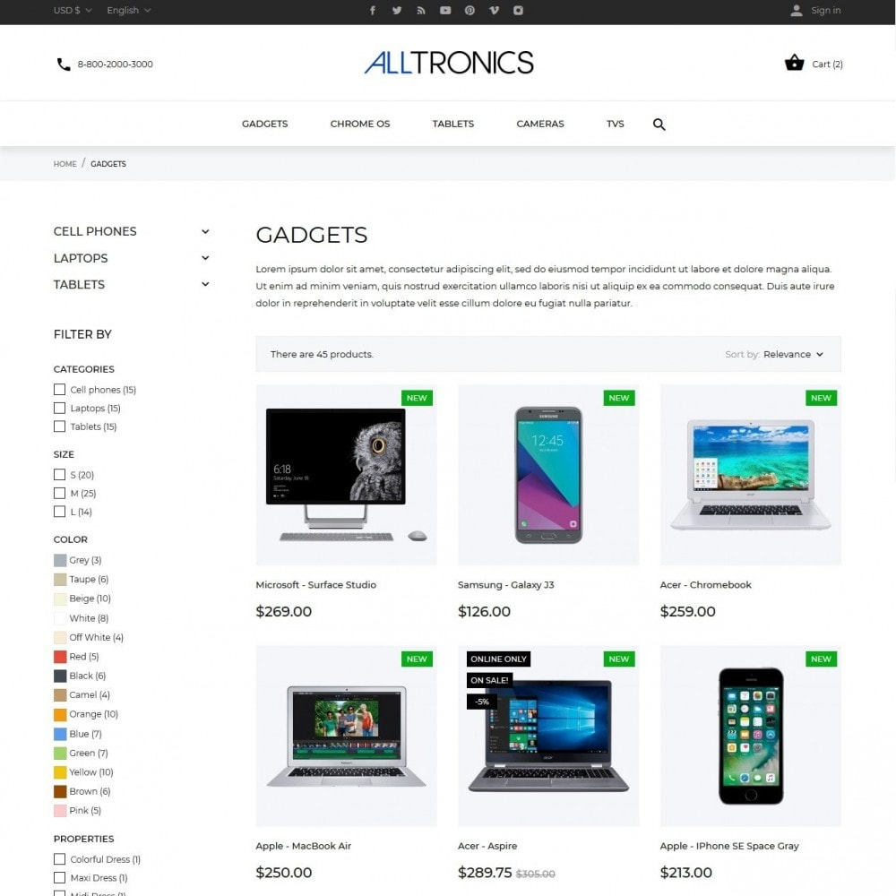theme - Elettronica & High Tech - Alltronics - High-tech Shop - 5