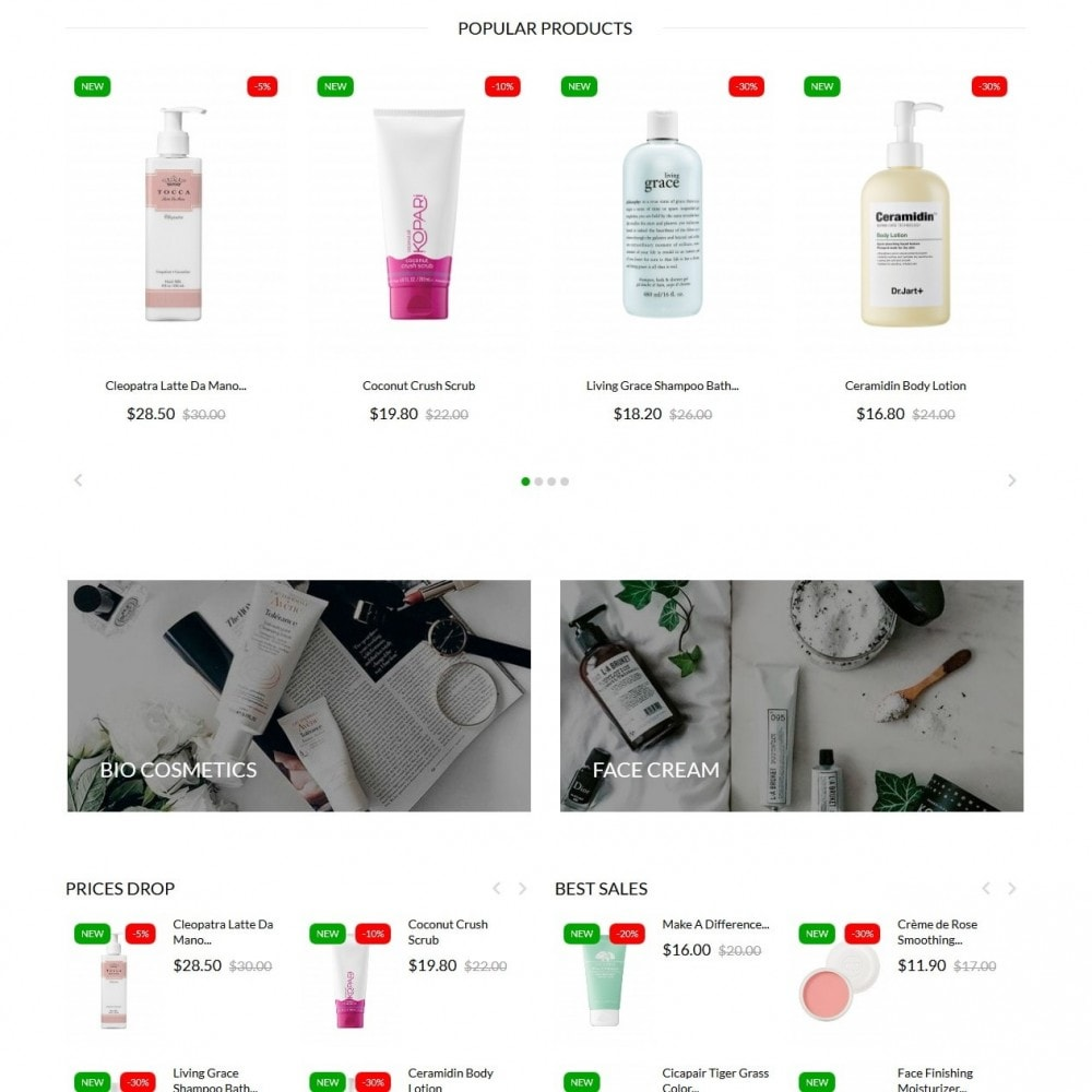 theme - Health & Beauty - Leaves Cosmetics - 3
