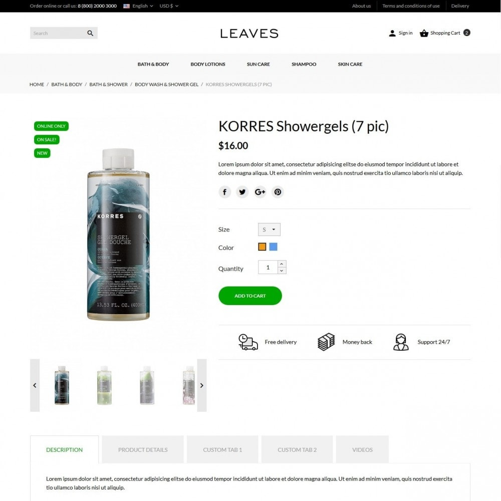 theme - Health & Beauty - Leaves Cosmetics - 6