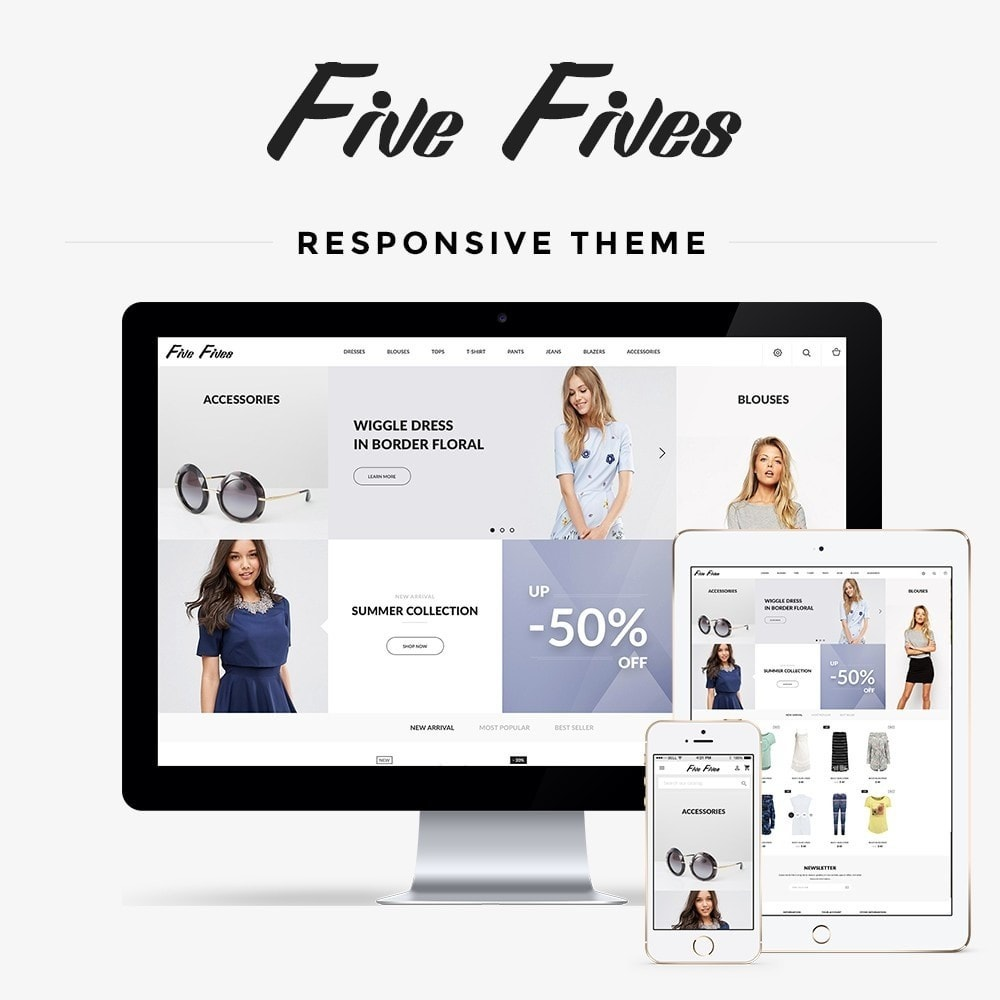 theme - Moda & Calzature - Five Fives Fashion Store - 1