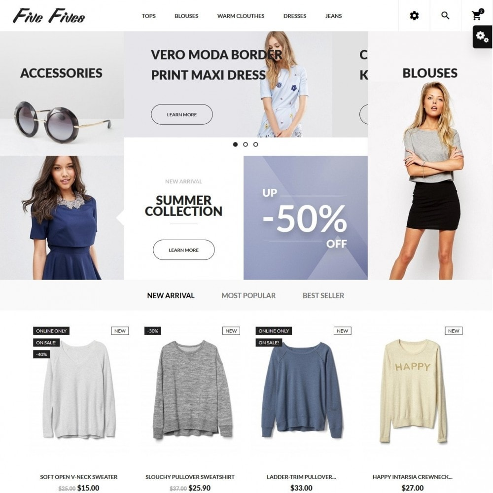 theme - Moda & Calzature - Five Fives Fashion Store - 2