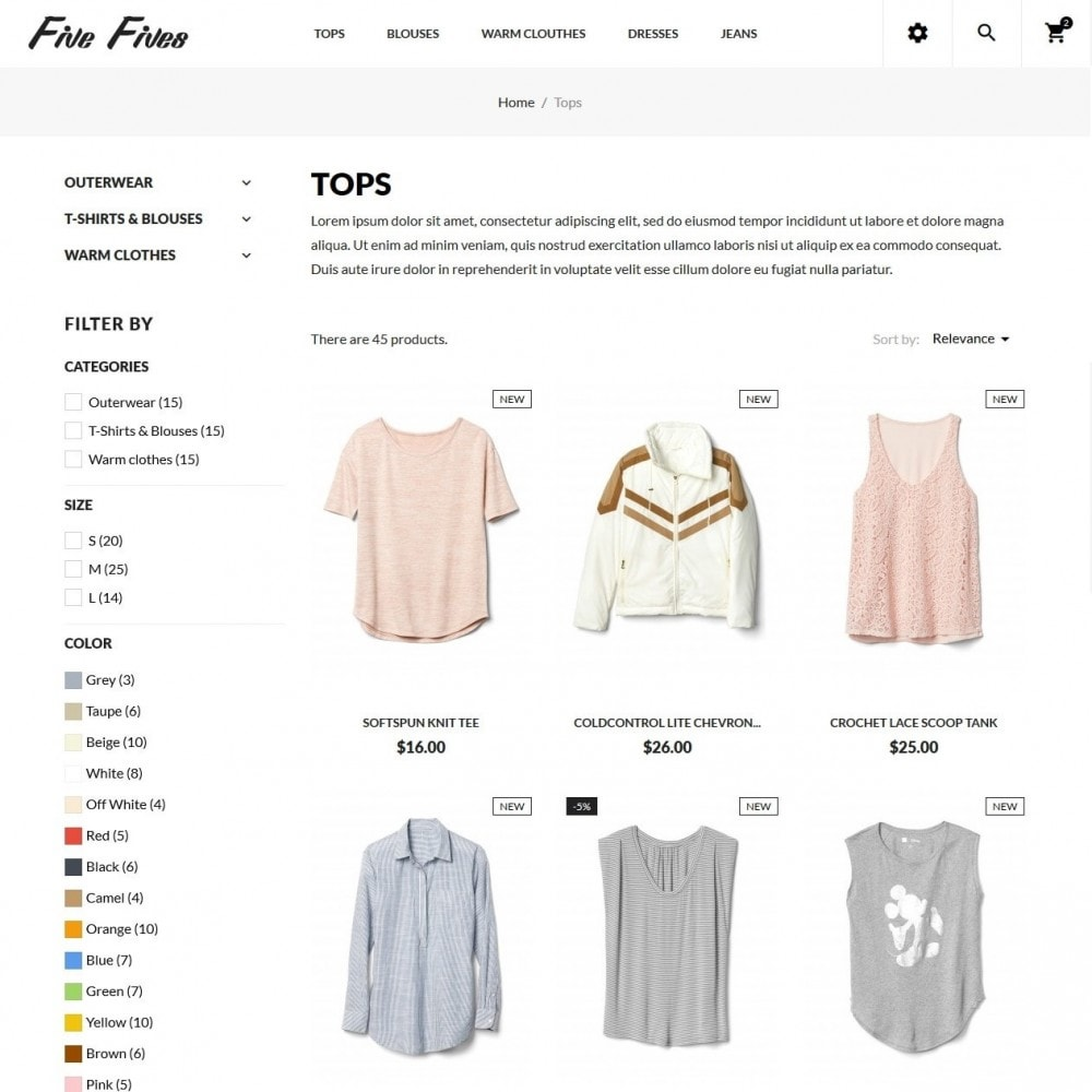 theme - Moda & Calzature - Five Fives Fashion Store - 5