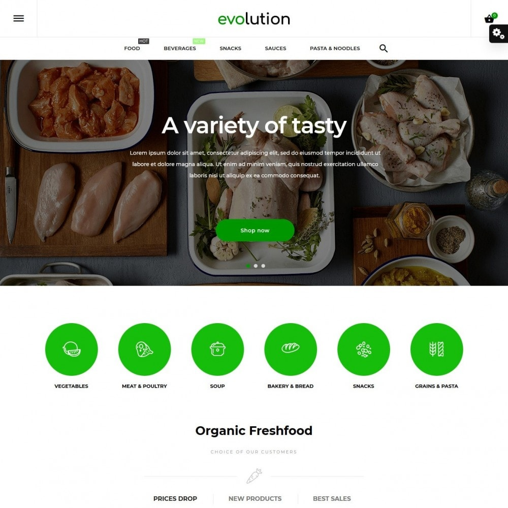 theme - Eten & Restaurant - Evolution - 2
