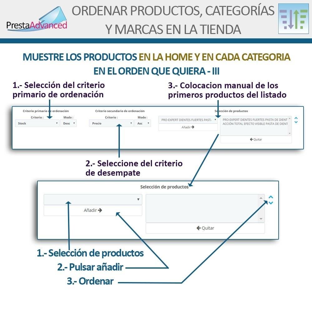 module - Personalización de la página - Ordenar productos, categorías y marcas en la tienda - 6
