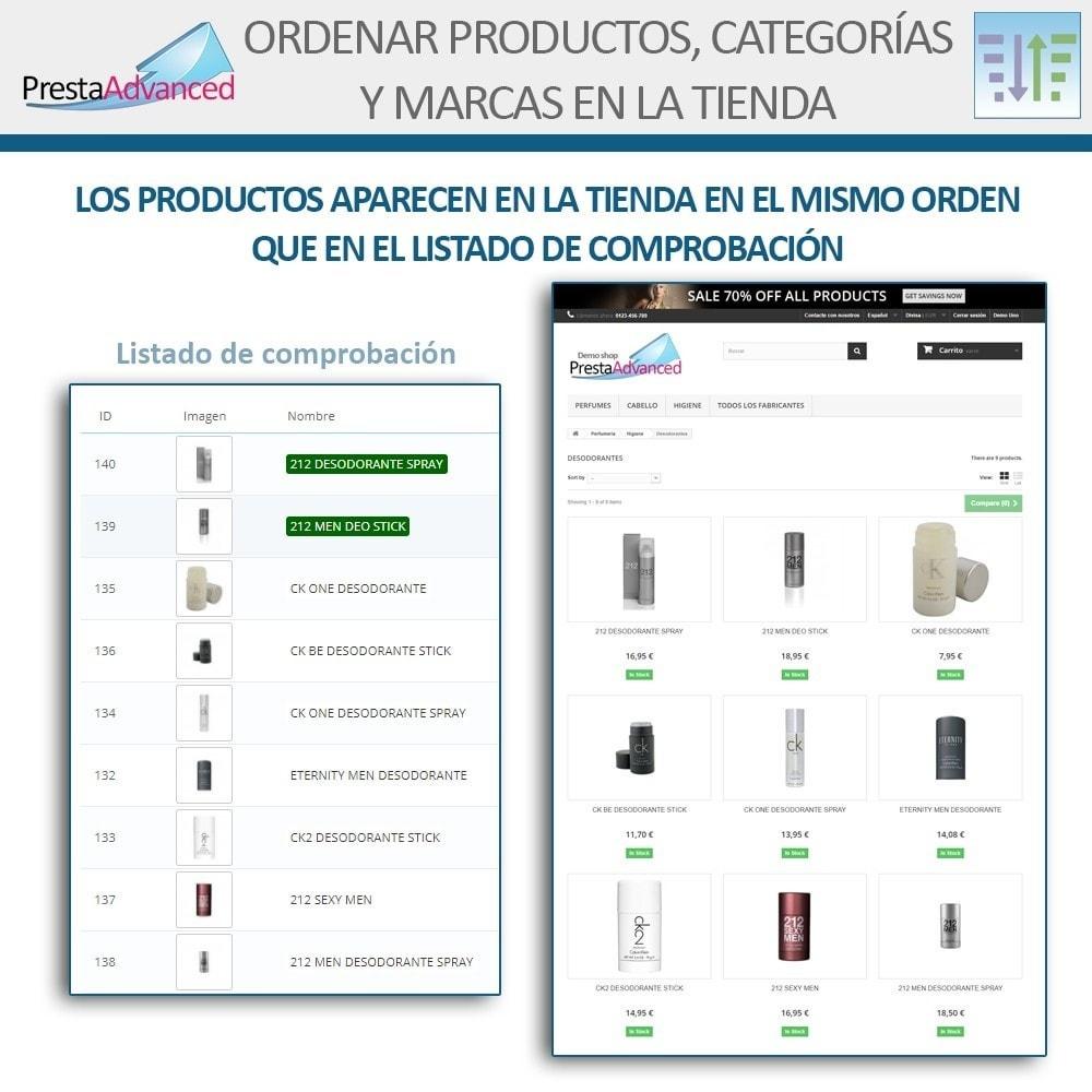 module - Personalización de la página - Ordenar productos, categorías y marcas en la tienda - 8