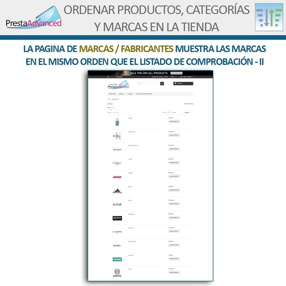 module - Personalización de la página - Ordenar productos, categorías y marcas en la tienda - 18