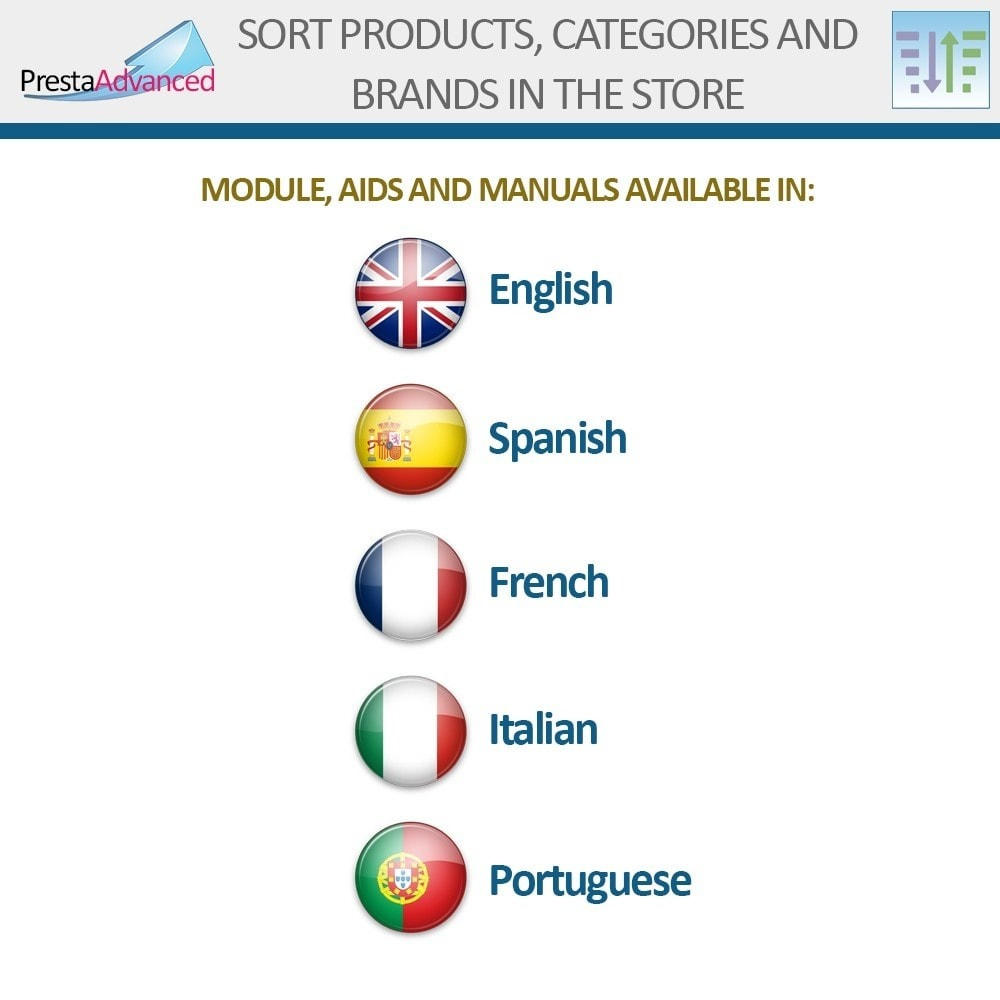 module - Page Customization - Sort products, categories and brands in the store - 19