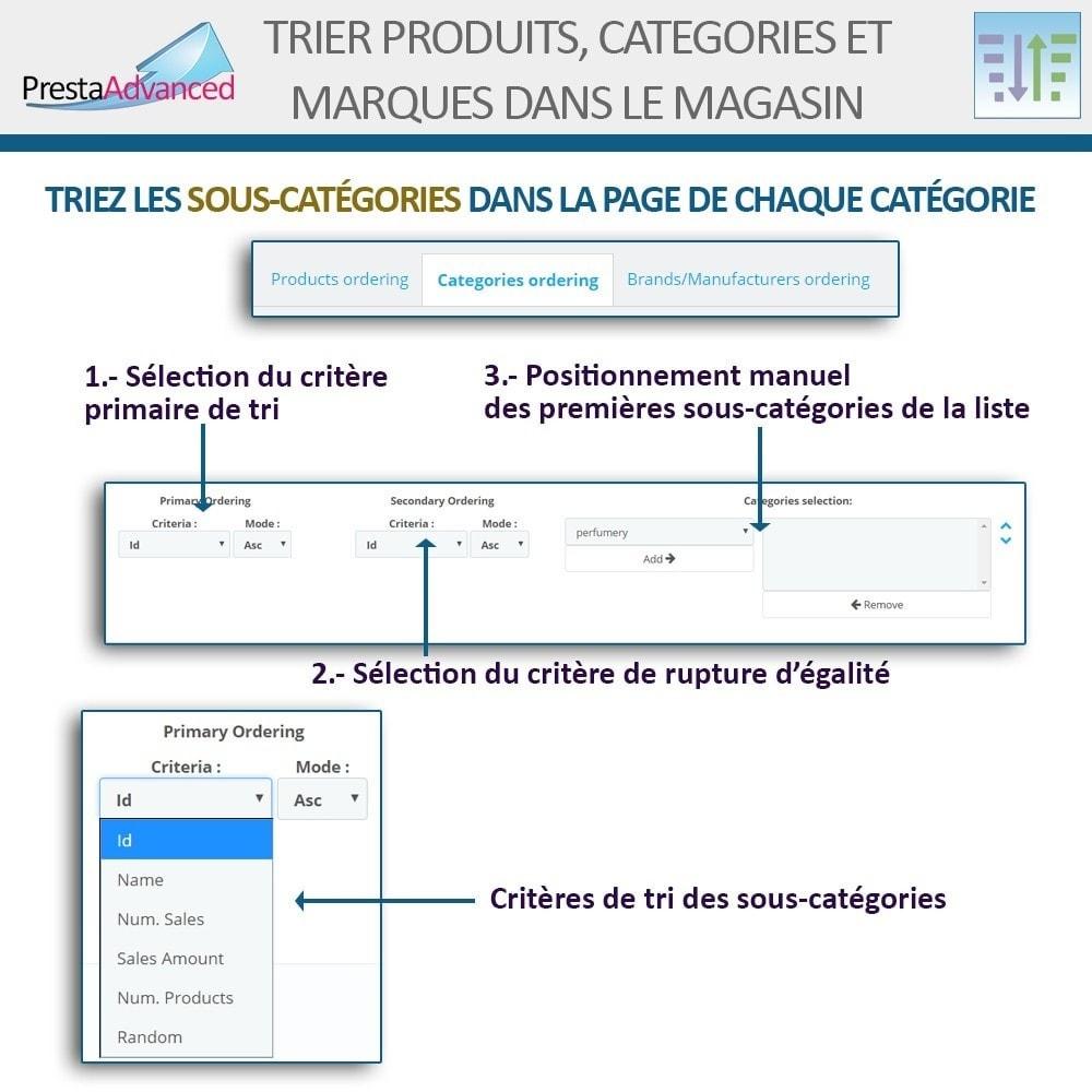 module - Personnalisation de Page - Tri de produits, catégories et marques dans le magasin - 14