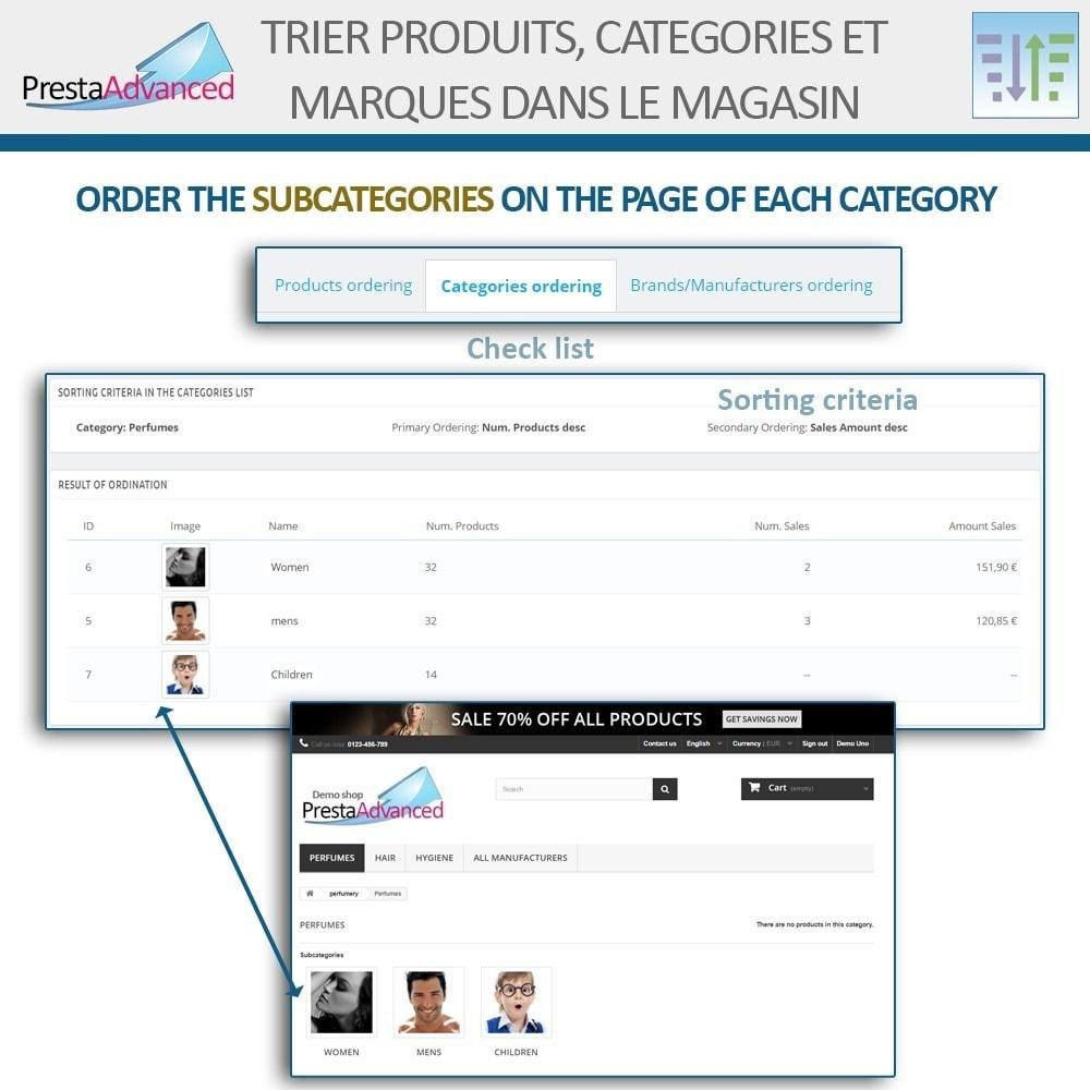 module - Personnalisation de Page - Tri de produits, catégories et marques dans le magasin - 15