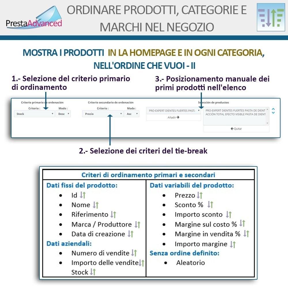 module - Personalizzazione pagine - Ordinamento di prodotti, categorie e marchi nel negozio - 5