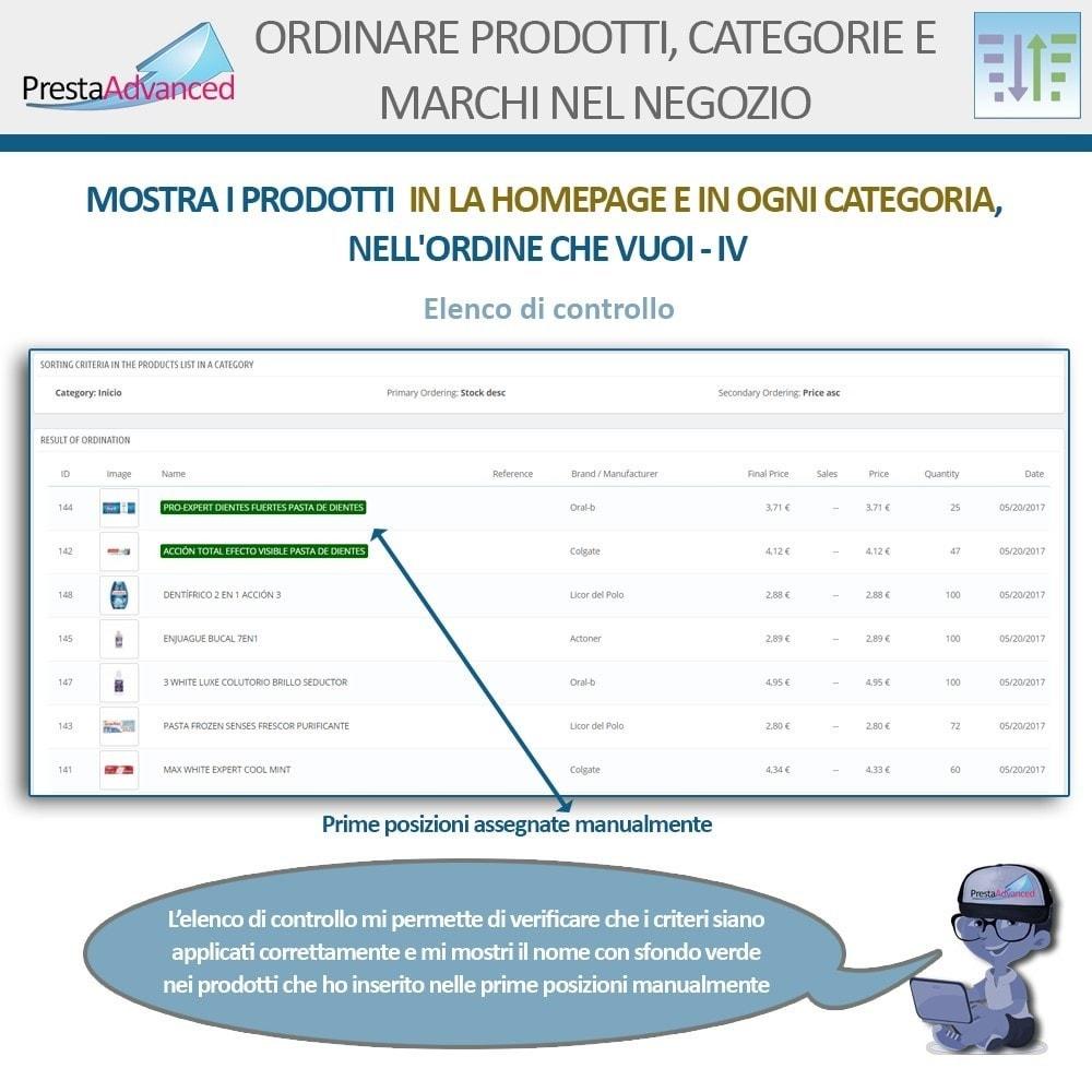 module - Personalizzazione pagine - Ordinamento di prodotti, categorie e marchi nel negozio - 7