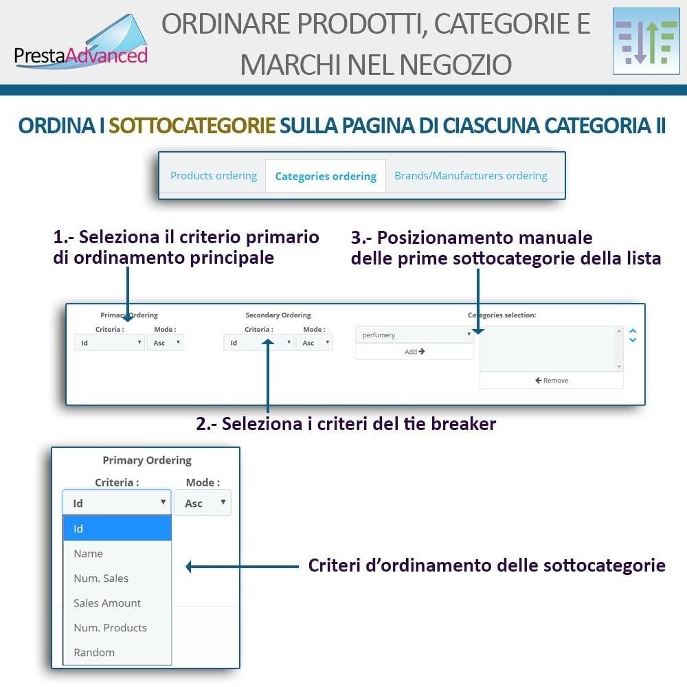 module - Personalizzazione pagine - Ordinamento di prodotti, categorie e marchi nel negozio - 14