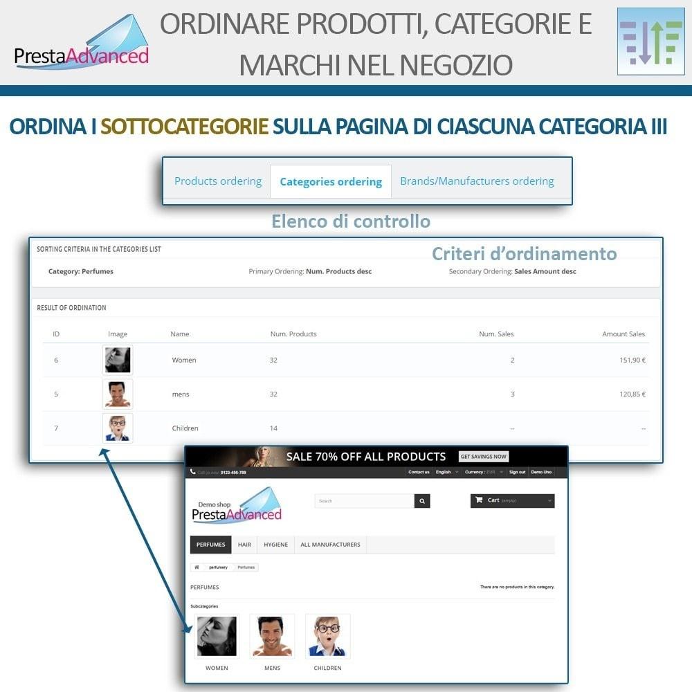 module - Personalizzazione pagine - Ordinamento di prodotti, categorie e marchi nel negozio - 15