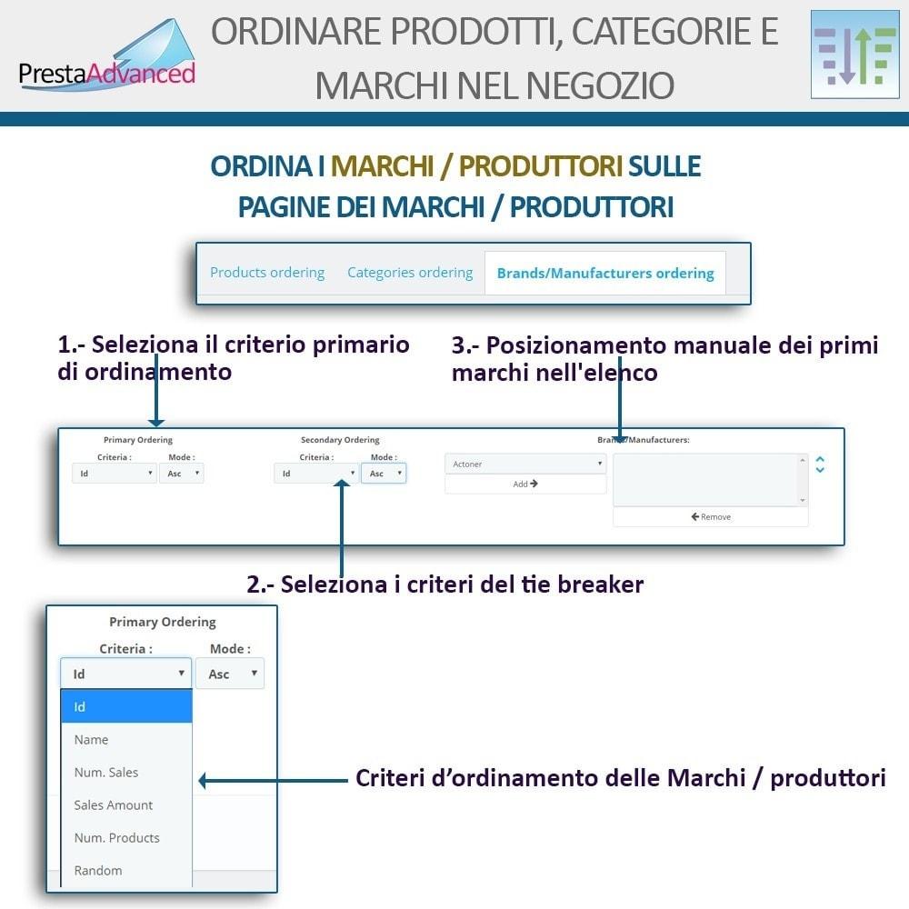 module - Personalizzazione pagine - Ordinamento di prodotti, categorie e marchi nel negozio - 16