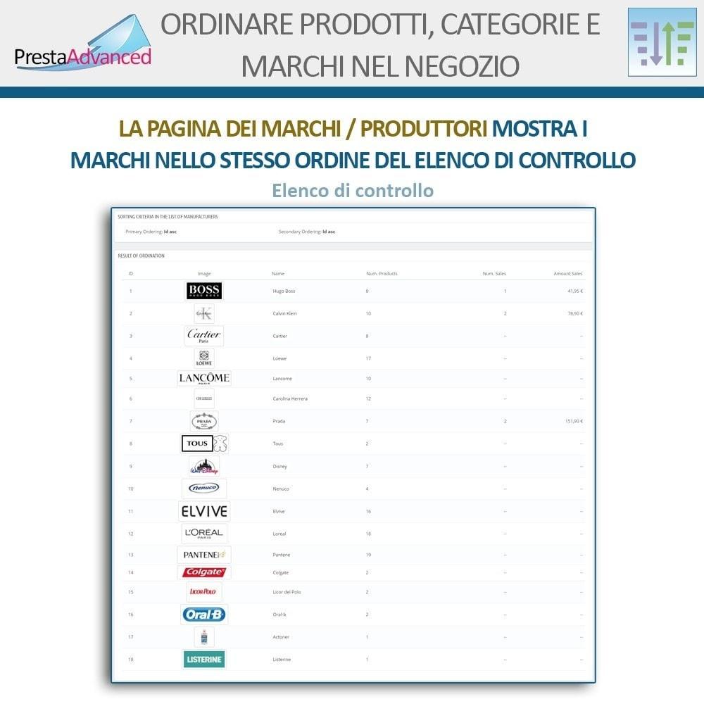 module - Personalizzazione pagine - Ordinamento di prodotti, categorie e marchi nel negozio - 17