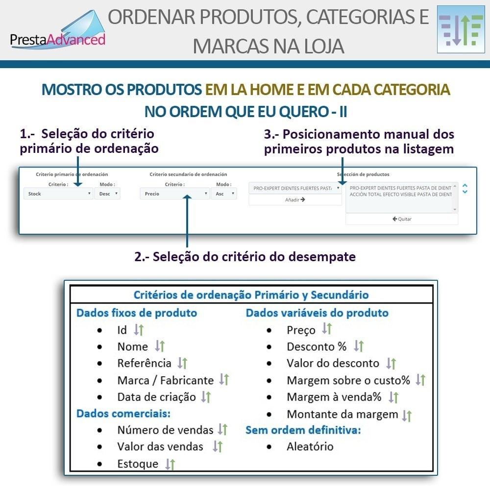module - Personalização de página - Ordenar produtos, categorias e marcas na loja - 5