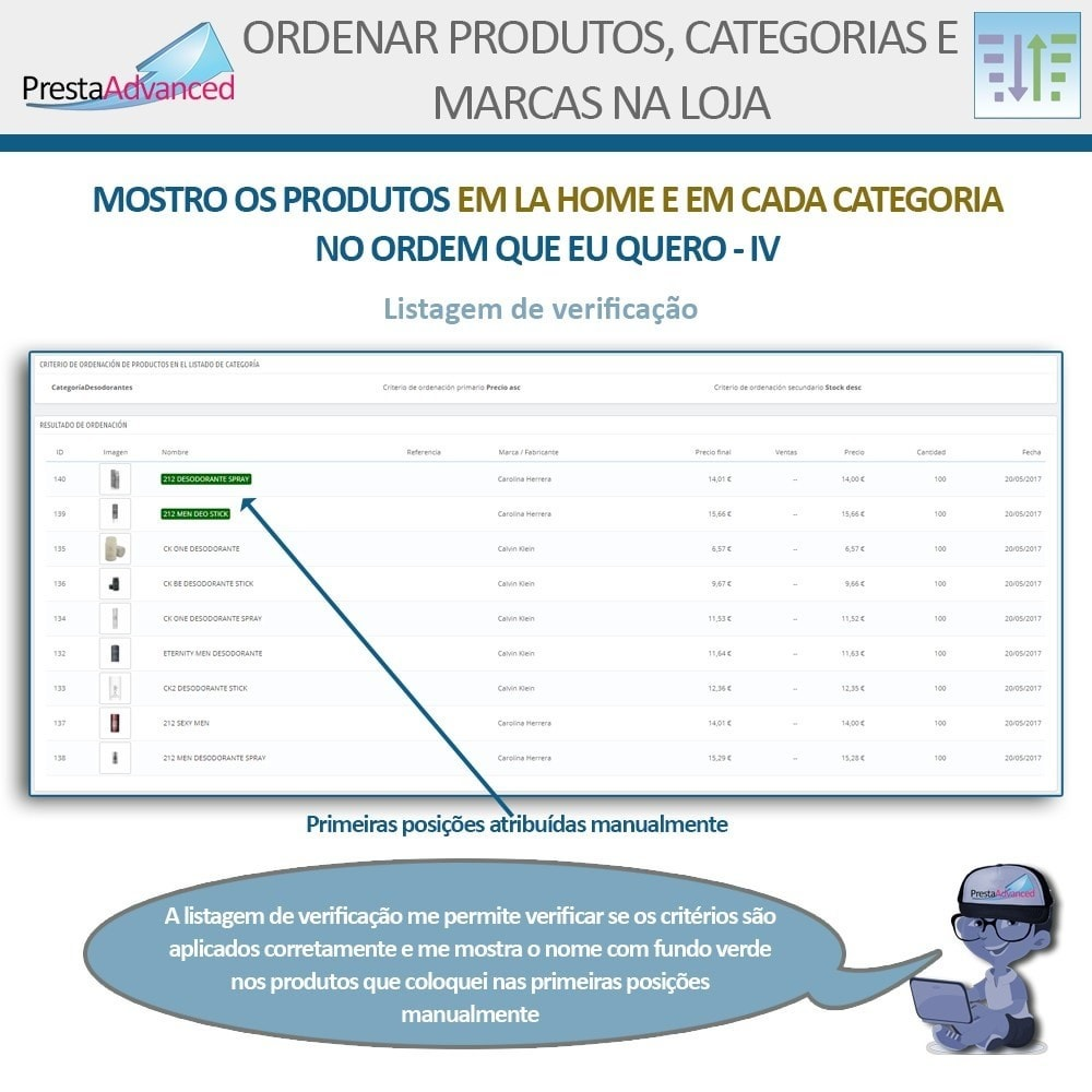 module - Personalização de página - Ordenar produtos, categorias e marcas na loja - 7