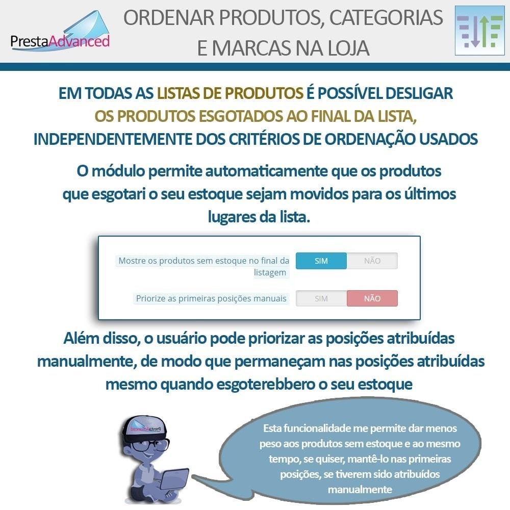 module - Personalização de página - Ordenar produtos, categorias e marcas na loja - 12