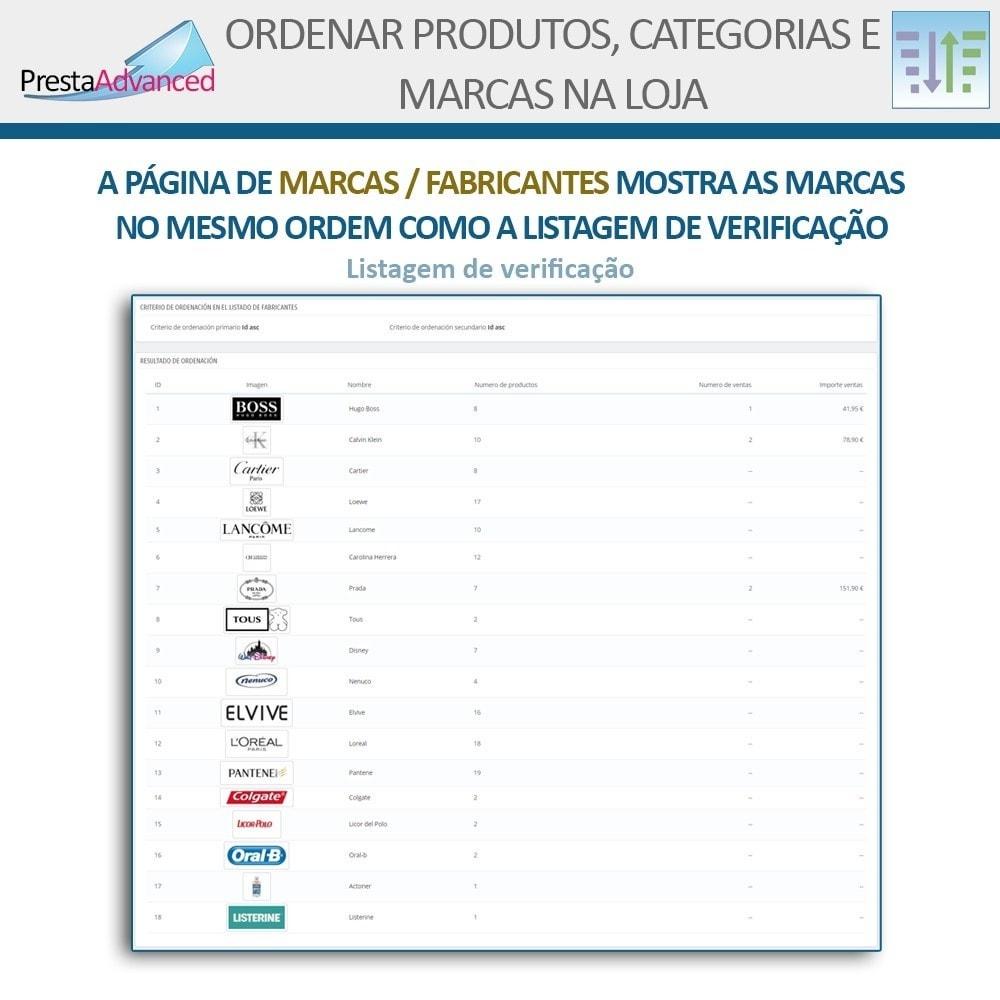module - Personalização de página - Ordenar produtos, categorias e marcas na loja - 17