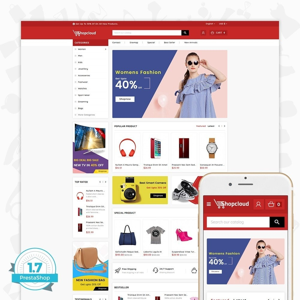 theme - Electronique & High Tech - ShopCloud - The Electronics Store - 1